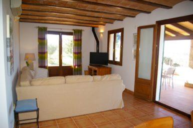 Wohnbereich mit Sat-TV Finca Cova