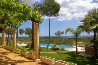Garten mit Pool Finca Mallorca