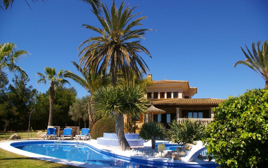 Finca auf Mallorca mit Palmengarten