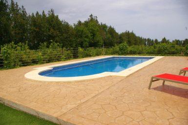Finca Sa Taulada - Pool umgeben von Orangenbäumen