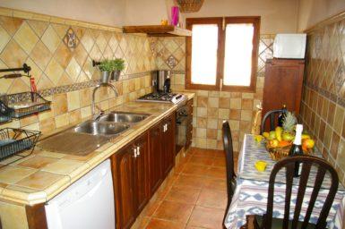 Küche mit Spülmaschine Finca Ses Terrasses