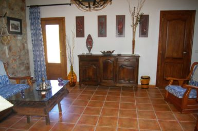 Wohnbereich mit Sat-TV Finca Ses Terrasses