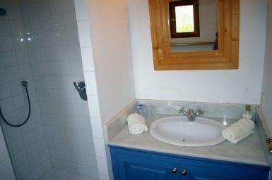 Bad mit Dusche im Gästehaus