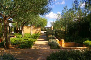Schöne Gartenanlage
