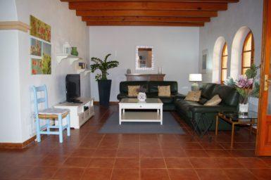 Wohnzimmer mit Sat-TV Finca Cas Mungi Vell