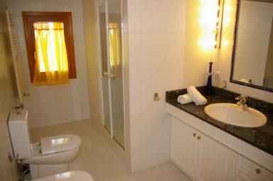 Bad mit Dusche in der Gästewohnung