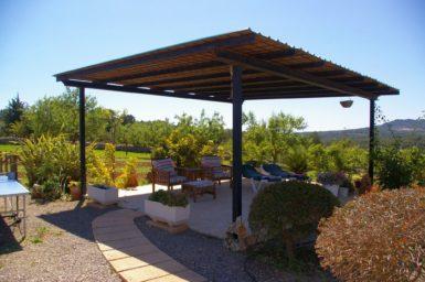 Überdachte Terrasse Finca Sa Bassa Seca