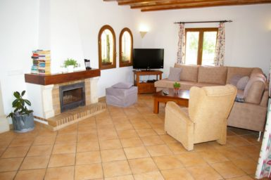 Finca Sa Bassa Seca - Wohnbereich mit Sat-TV