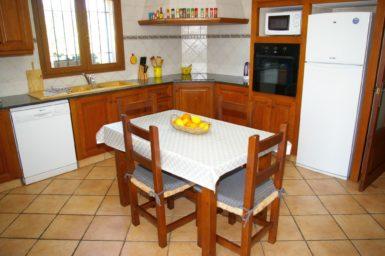Küche mit Essplatz Finca Sa Bassa Seca