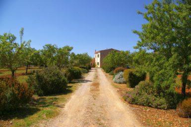 Einfahrt zur Finca Sa Bassa Seca