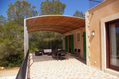 Überdachte Terrasse Finca Romani