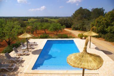 Blick auf den Pool Finca Romani
