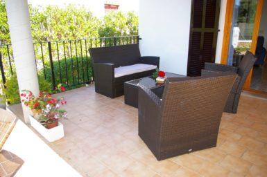 Ferienhaus Hector - gemütlicher Sitzplatz