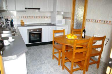 Ferienhaus Hector - Küche mit Essplatz