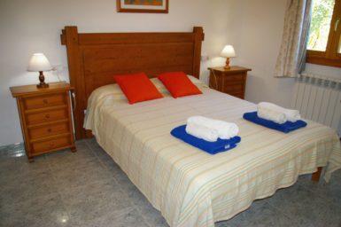 Ferienhaus Hector - Schlafzimmer mit Doppelbett