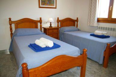 Ferienhaus Hector - Schlafzimmer mit 2 Einzelbetten im OG