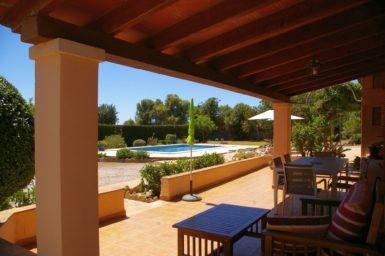 Finca Can Pere Juan - Blick auf den Pool