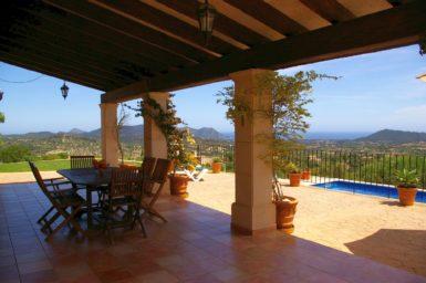 Finca El Cel - Terrasse mit Aussicht