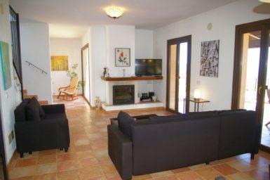 Finca El Cel - Wohnzimmer mit Sat-TV