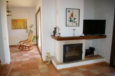 Finca El Cel - Kamin im Wohnbereich