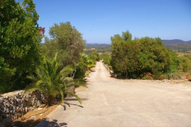 Finca El Cel - Einfahrt zur Finca