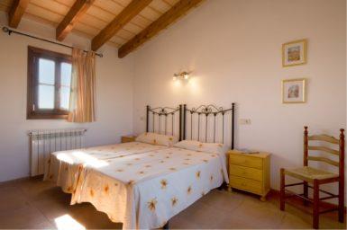 Finca Es Corto - Schlafzimmer mit Zentralheizung