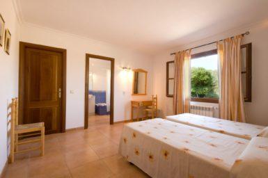 Finca Es Corto - Schlafzimmer mit Bad en Suite