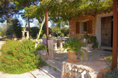 Finca Es Garrigo - überdachte Terrasse
