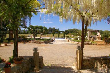 Finca Es Garrigo - Blick auf den Poolbereich