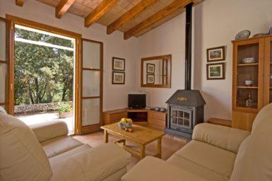 Finca Es Puchet - Wohnbereich mit Sat-TV