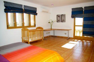 Finca Na Pont - Schlafzimmer mit Klimaanlage
