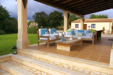 Gemütlicher Sitzplatz Finca Mallorca
