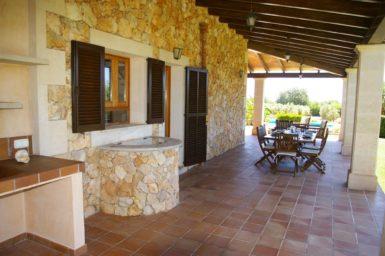 Finca S'Hort - große Terrasse