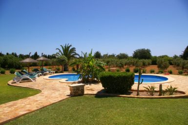 Finca S'Hort - Blick auf den Pool