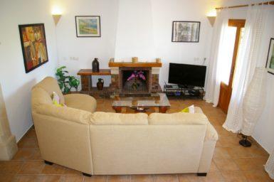 Finca S'Hort - Wohnzimmer mit Sat-TV