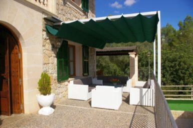 Finca Son Capellet - überdachte Terrasse