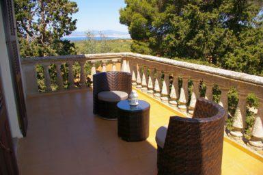 Finca Son Granada - Balkon mit Meerblick