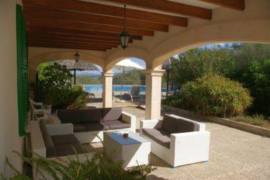 Finca Son Perxa - Terrasse mit Blick auf den Pool