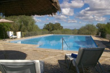 Finca Son Perxa - Poolterrasse mit Ausblick