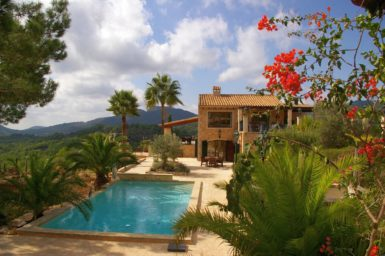 Finca Vall Dor - Blick auf den Pool