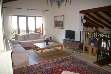 Finca Vall Dor - Wohnzimmer mit Sat-TV