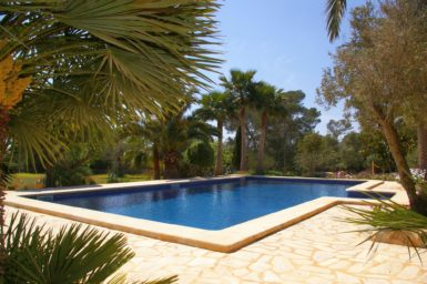 Finca Son Azul Real - Pool mit Poolterrasse