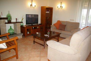 Wohnzimmer mit Sat-TV Finca Manuela