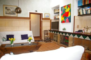 Finca Tomeu - Wohnbereich mit Sat-TV