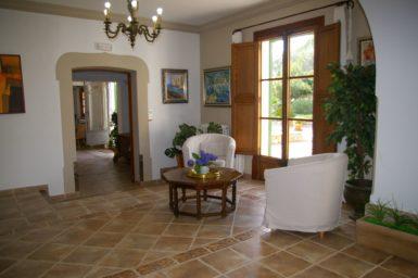 Finca Tomeu - Sitzplatz am Wohnbereich