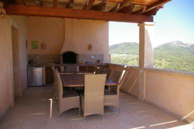 Finca Vall Dor - Essplatz mit Außengrill