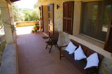 Überdachte Terrasse - Finca Arta