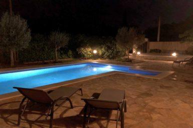 Finca Sa Tortuga - Pool bei Nacht