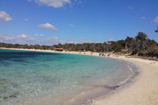 Spazieren am Strand Mallorca