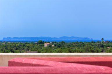 Blick auf die Insel Cabrera von der Dachterrasse